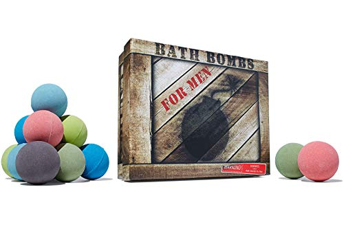 (Men's Bath Bomb Gift Set of 12 by Crate Bombs)