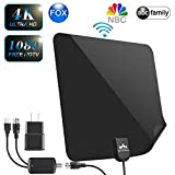 【2019 Latest】 HDTV Antenna Indoor Digital TV Antenna, DUMSAMKER 65-80 Miles Range HD Antenna with Amplifier Signal Booster and 13FT Coaxial Cable - Extremely High Reception