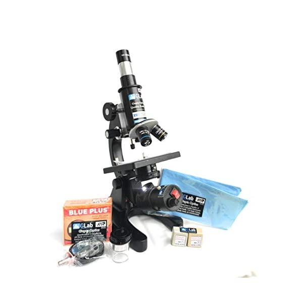 G Lab Compound Student Microscope With LED LAMP,50 BLANK N TWO PREPARED SLIDES ISO 9001:2015 CERTIFIED 4