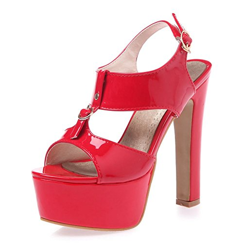 Formal Heel Red Sandals Platform High Pump SaraIris Women's Dress x8qXUwt