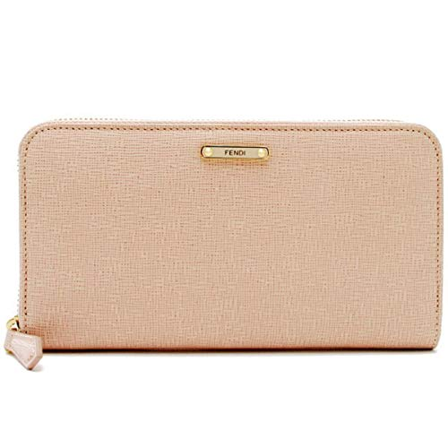 Fendi Coin Purse - Fendi women's wallet leather coin case holder purse card bifold elite pink