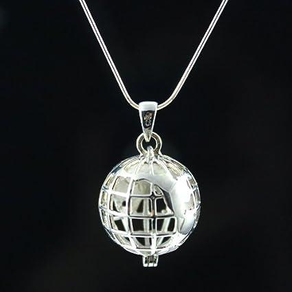 Elli Women's 925 Sterling Silver Howlite Globe Necklace Length 70 cm BARIkNnq