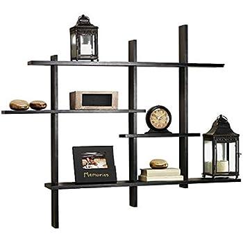 Amazon Com Deluxe Four Level Floating Shelf Black Made