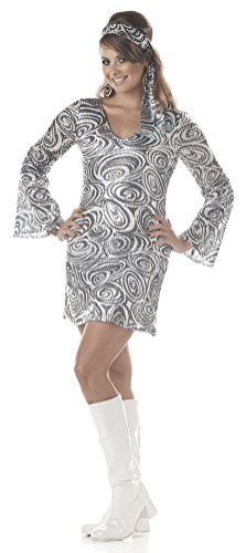 Disco Diva Discolicious Women Plus Size 1X Adult Costume