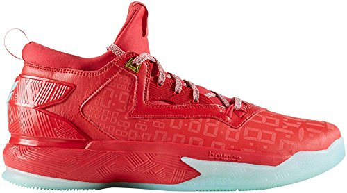 adidas D Lillard 2, Zapatillas de Baloncesto para Hombre rojo/verde (Ray Red/Ice Green/Ray Red)