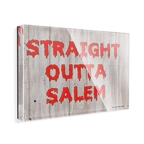 (Acrylic Fridge Magnet Straight Outta Salem Halloween Bloody Wall NEONBLOND)