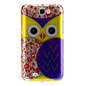 Nsaneoo - Lovely Owl Pattern Hard Case for Samsung Galaxy Note 2 N7100