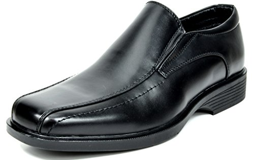 Bruno Marc Men's Cambridge-05 Black Leather Lined Dress Loafers Shoes - 9 M US ()