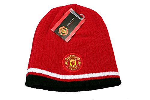 fan products of Manchester United FC Authentic Official Licensed Product Soccer Beanie (black white)