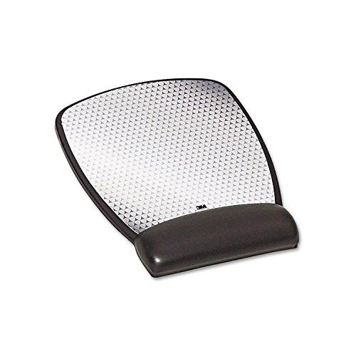 3M Precise Leatherette Mouse Pad w/Wrist Rest, 6-3/4 x 8-3/5, Black -