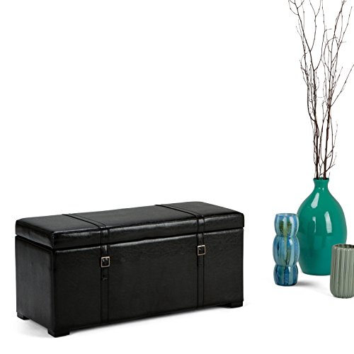WyndenHall Waterford 5-piece Storage Ottoman Bench Black by Wynden Hall