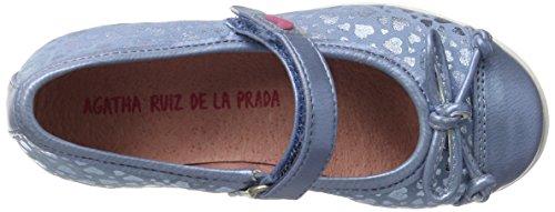 Agatha Ruiz De La Prada Mädchen 172971 Mary Jane Halbschuhe Blau (Vaquero Y Estampado Corazones)