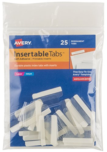 Avery Printable Inserts 1 Inch 16221