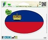 "Liechtenstein Flag oval Vinyl Car Bumper Window Sticker 5"" x 3"""