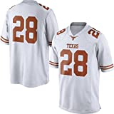 NCAA Mens Texas Longhorns White #28 Limited College Football Jersey M