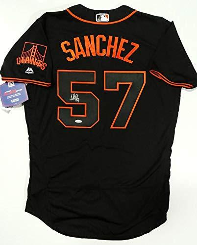 finest selection 73ecd 017a5 Jonathan Sanchez Autographed Black San Francisco Giants ...