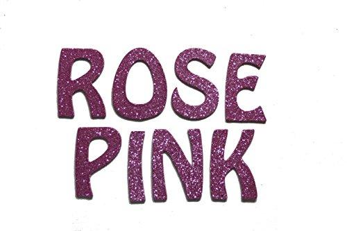 Rose Pink Glitter HandCut 2