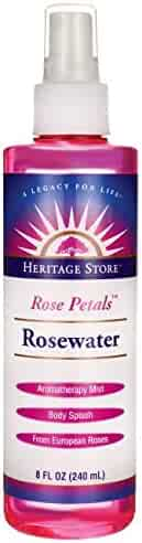 Heritage Store Rosewater Spray with Atomizer 8-Ounce Bottle