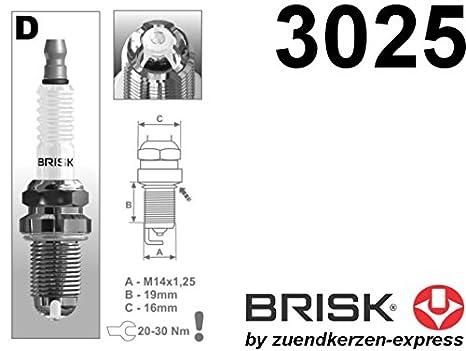 BRISK Premium Racing DOR14LGS 3025 Bujías de Encendido, 4 piezas: Amazon.es: Coche y moto