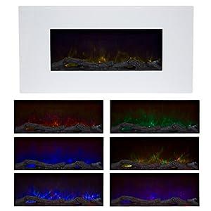 Northwest 80-2000A-36-WHITE LED Electric Fireplace