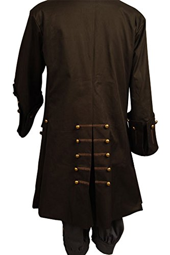 Cosplaysky Halloween Pirate Costume Pirates The Caribbean Jack Sparrow Jacket X-Large (Only Jacket) by Cosplaysky (Image #1)