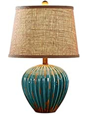 Elegant Enkelhet Retro Bordslampa, Nostalgi Bordslampa Keramik Röd Blå Ljus Läslampa Vardagsrum Sovrum Skrivbordslampa Belysning Bordslampa, Röd, 3250cm