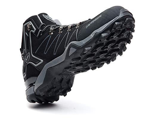 De Bottes Sport Pour Sneakers noir Outdoor Trekking Randonnée Hautes Homme 8 Chaussures BIwqUBd