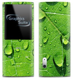 Green Leaf Skin for Apple iPod Nano 5th - Green Apple Nano Ipod