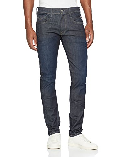 Replay Men/'s Anbass Slim Jeans Blue Blue Denim 9 32W 30L