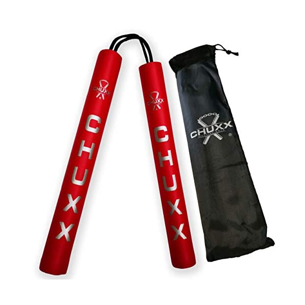 CHUXX-Martial-Arts-Foam-Training-Rope-Nunchucks-Includes-Case-Premium-Martial-Arts-Weapons-Practice-Cord-Nunchaku-Perfect-for-Kids-Adults-and-Beginners