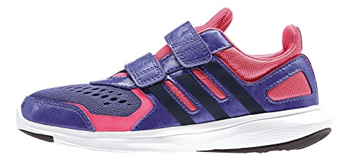 adidas Black Boys' Black Purple Pink Trainers rqr1Z