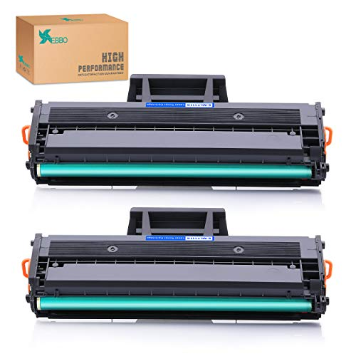 EBBO MLT-D111S D111S Compatible Toner Cartridges Replacement for Samsung MLTD111S Work with Xpress SL-M2020W SL-M2070W SL-M2070FW SL-M2022W Laser Printer (Black, 2-Pack) ()