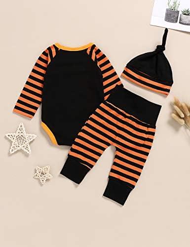 MY Household Bambino Vestiti T-Shirt Top e Pantaloni Set Neonato Natale Abbigliamento Set 4 Pezzi Vestiti per Bambina Lettera Pagliaccetto Tuta Top Pantaloni Floreali Cappello Fascia Set