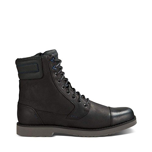 Teva Men's M Durban Tall-Leather Boot, Black/Dark Shadow,...