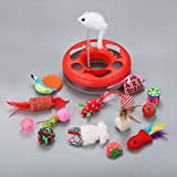HBK2 One Set Pet Cat Toy Set Feather Teaser Wand Catnip Toys Ball Rings Cats Interactive Products