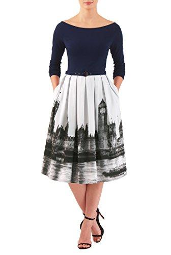 Buy belted drape dress - 2