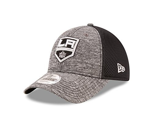 (NHL Los Angeles Kings Adult Shadow Turn 9FORTY Adjustable Cap, One Size,)