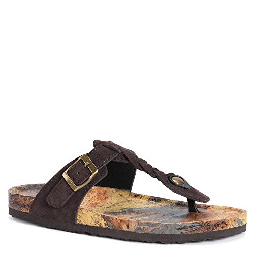 MUK-LUK Women's Marsha Sandals Chocolate Chip 10