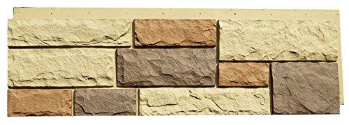 NextStone 6NPNM1 Random Rock Indoor/Outdoor Siding Panel 4Pack New England Mocha