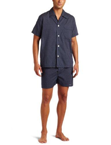 Derek Rose Men's Shortie Pajama Set, Navy, Medium by Derek Rose