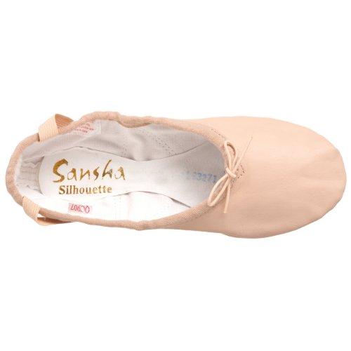 Sansha Silhouette Leder Ballettschuh Rosa