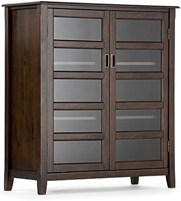 Simpli Home 3AXCBUR 004 Burlington Solid Wood 40 Inch Wide Traditional  Medium Storage Cabinet In