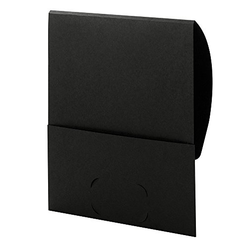 Smead Organized Up Stackit File Folder, One Pocket, Textured Stock, Letter Size, Black, 10 per Pack (87913)