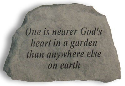 Nearer Gods Heart - Kay Berry- Inc. 41920 One Is Nearer Gods Heart In A Garden - Garden Accent - 6.5 Inches x 4.5 Inches x 1.5 Inches