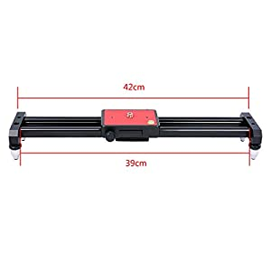 Ulanzi SL-40 40cm 15in Mini Video Slider, Compact Little Travel DSLR Camera Track Dolly Rail Youtube Vloging Gear