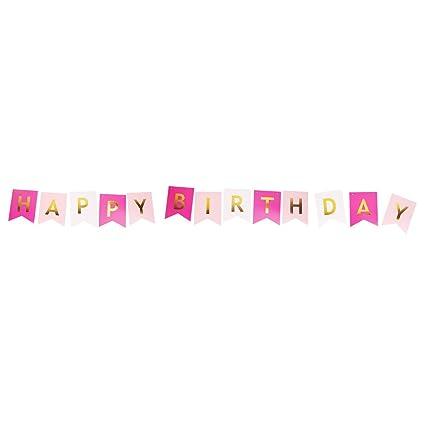 Guirnalda de Feliz Cumpleaños, Decoraciones de Cumpleaños ...