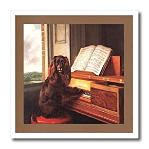 ht_98607_1 Florene Dog - Photo Of Famous Painting Of Dog n Piano.jpg - Iron on Heat Transfers - 8x8 Iron on Heat Transfer for White Material