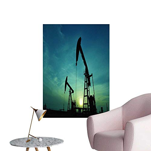 SeptSonne Wall Stickers for Living Room The Oil Pump Vinyl Wall Stickers Print,16