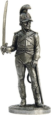 Soldier of the horse-Jaeger regiment Tin Toy Soldiers Metal Sculpture Miniature Figure Collection 54mm scale 1//32 Nap-38