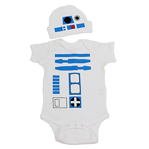 R2D2 Baby Graphic Long Sleeve Bodysuit Set (Darth Vader Body Suit)